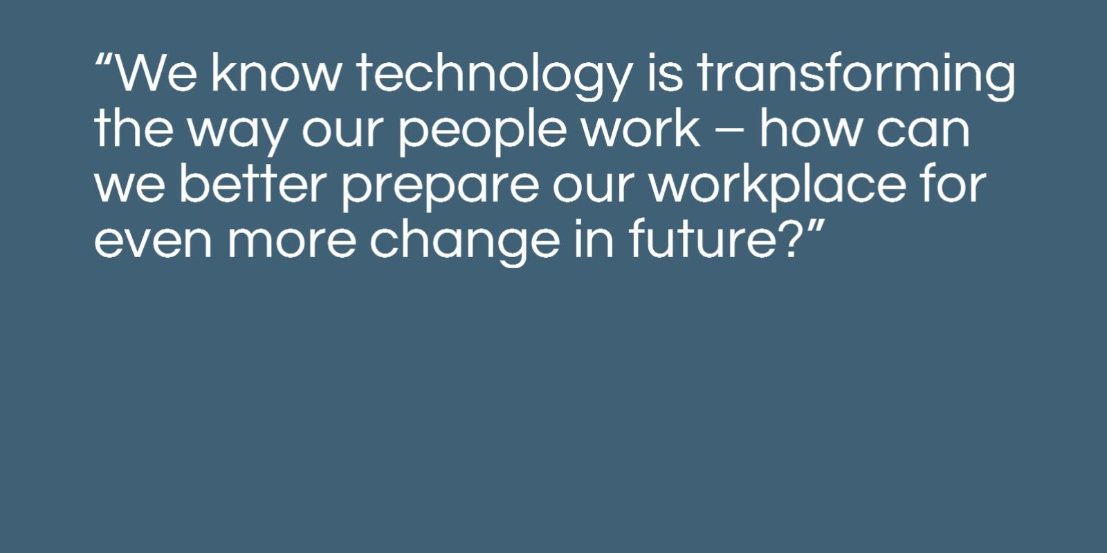 Image of how technology is transforming the way people work.