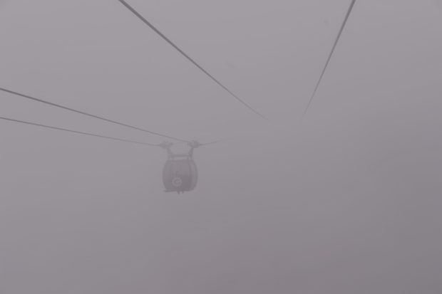 Photo of Cable car in fog in Hakone, Japan
