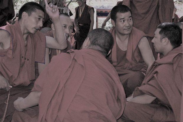 Photo of Debating Monks at Sera Monastery, Tibet