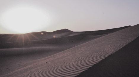 Photo of sunrise in the Sahara, Morocco