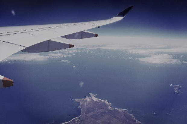Flight over the Australian coastline